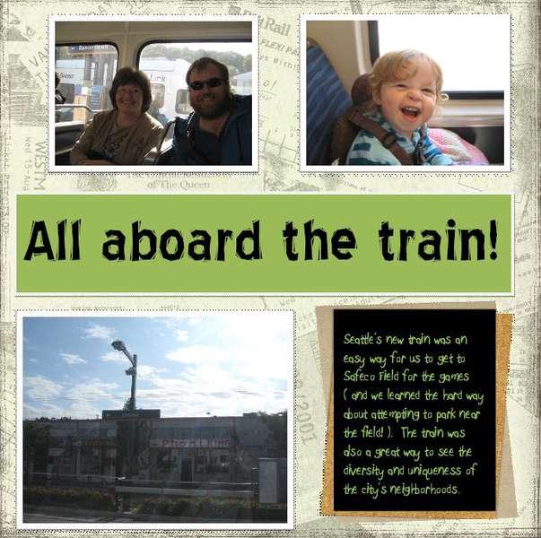 All aboard the train! 2009