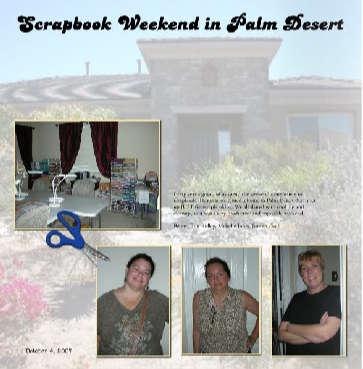 Scrapbook Weekend in Palm Desert