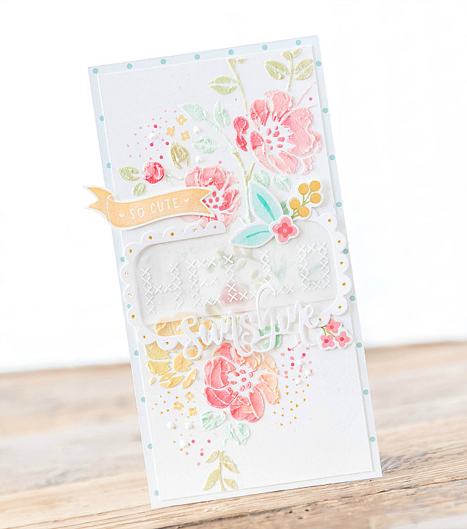 ~Hello Sunshine~ Faux Embroidery Tutorial