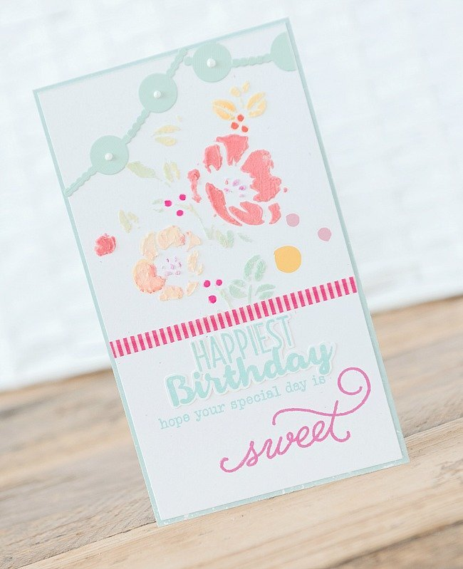 ~Happy Birthday~ Colored Texture Stenciling Tutorial