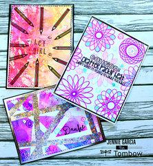 Cards using Tombow Dual Brush Pens