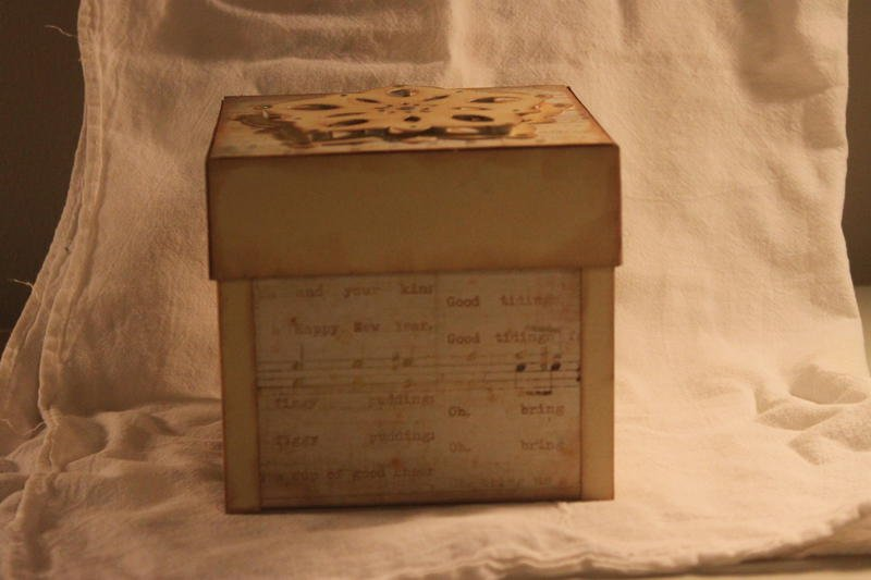 Side view of the box
