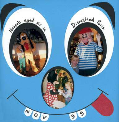 'Hannah aged 6 in Disneyland Paris'