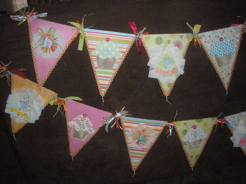 Cupcake Theme 1st Birthday Banner