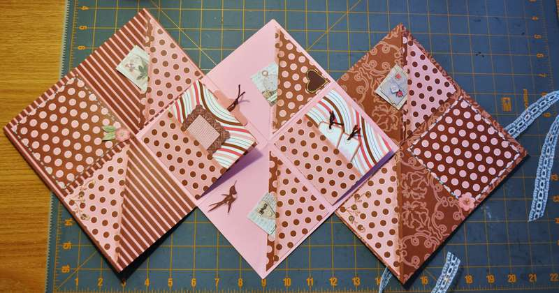 Inside Accordian Album for ScrappinLilly..