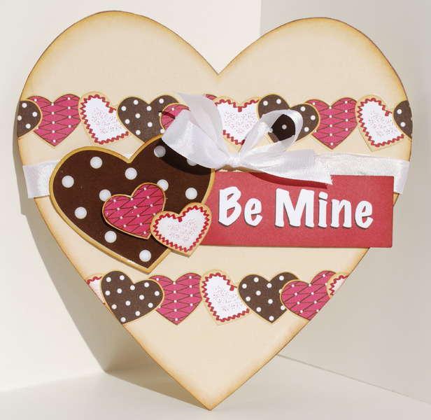 Be Mine heart-shaped card
