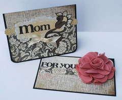 For Mom card & brooch *BasicGrey*