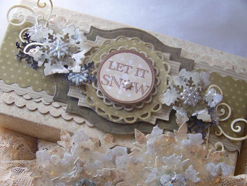 Altered Box and 'Iced Snowflakes' Christmas Ornaments