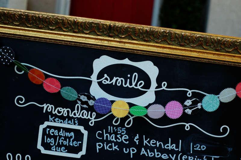 School Schedule Chalkboard  *KI Memories Blog Hop*