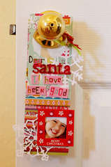Santa Door Hanger  *KI Memories*