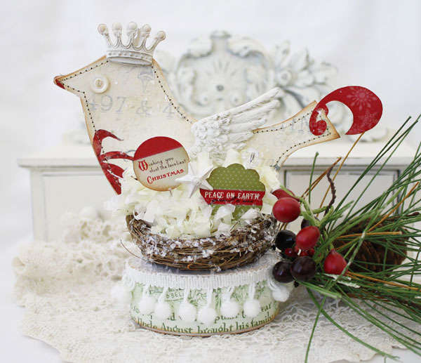 Holiday Bird Using Melissa Frances Deck the Halls