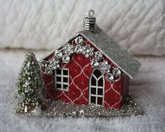 Miniature Melissa Frances Cottage House Ornament