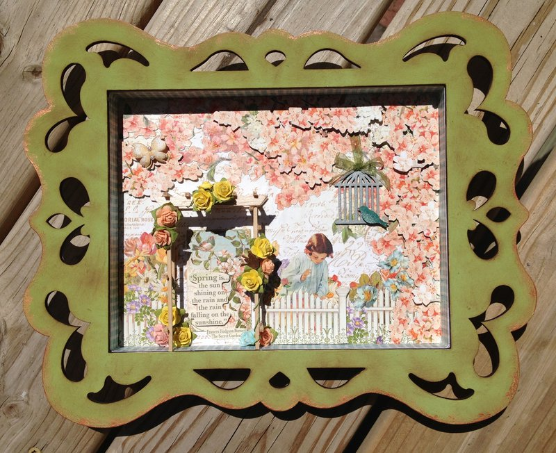 Secret Garden shadowbox swap