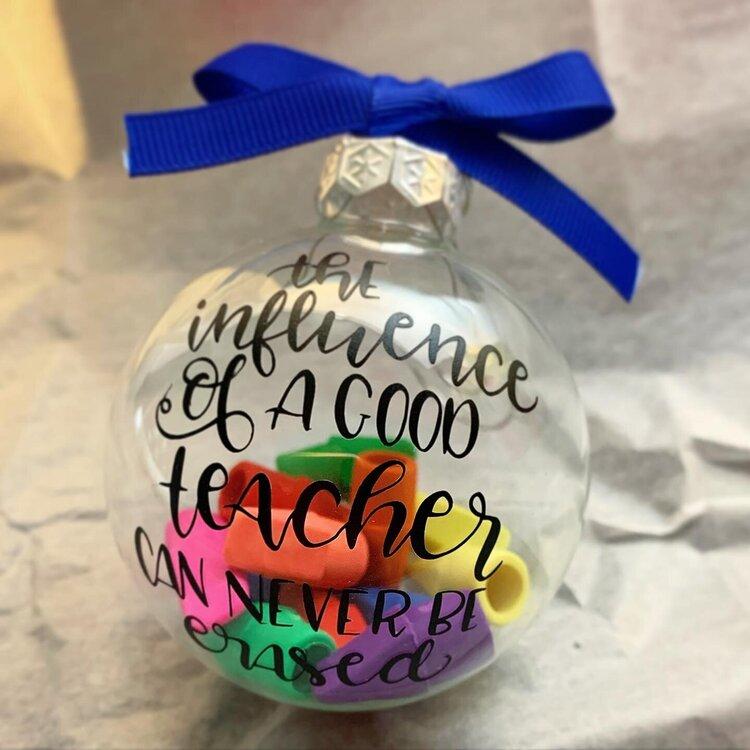 Teacher Christmas ball gift
