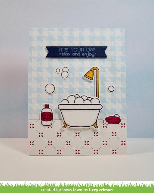 Rub-a-Dub-Dub Bathroom Tile Card
