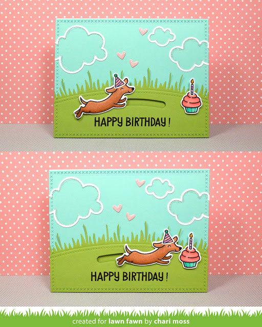Happy Birthday Wiener Dog and Cupcake