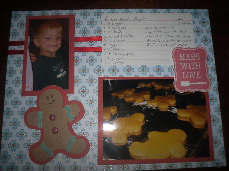 Recipe Layout Gingerbread Peopl