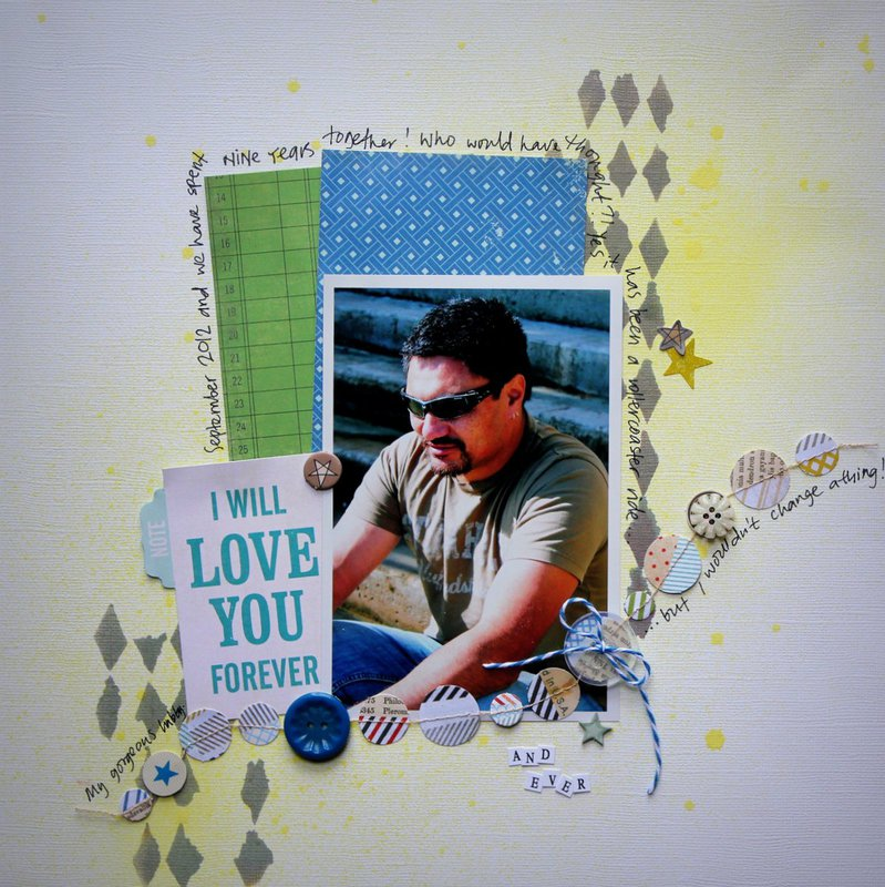 I will love you forever - Scrappin' Patch