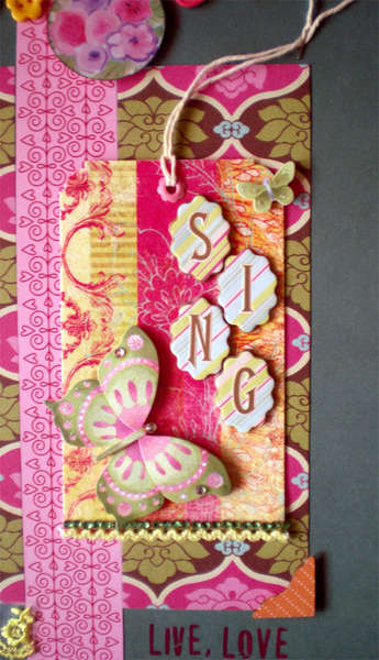 Sing - Handmade tag zoom