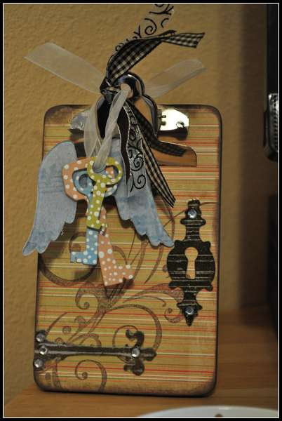decorated mini clipboard