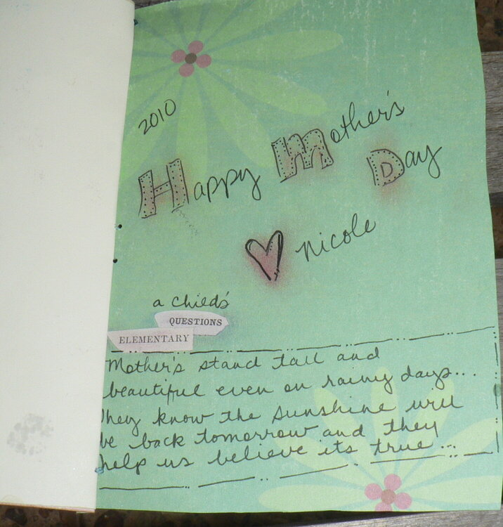 Inside Mother's Day Card 2010