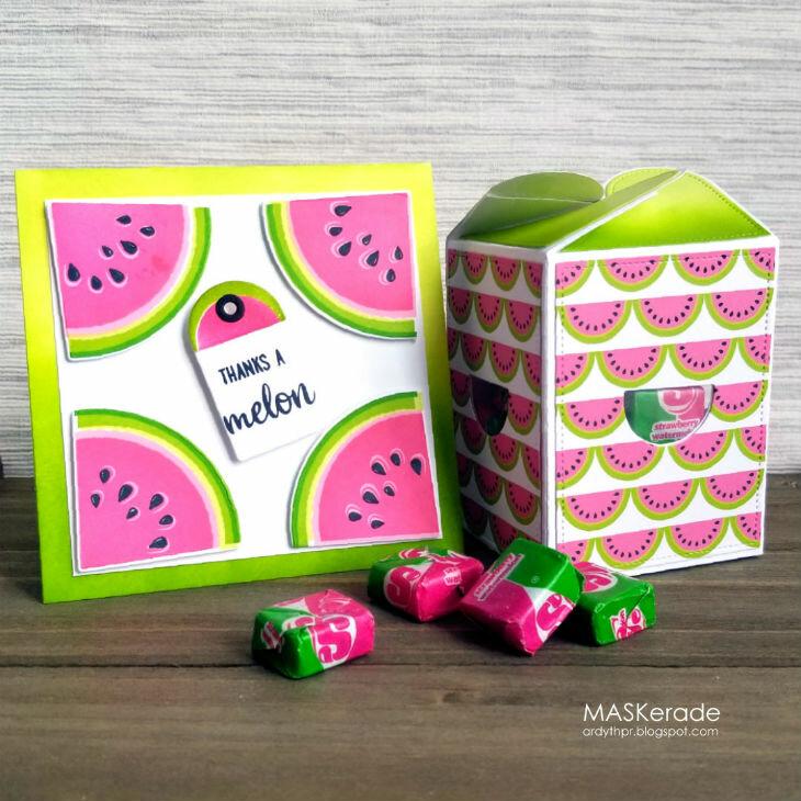 Sunny Studios Summer Gift Box & Thank You Card