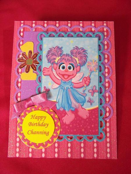Abby Cadabby 1st Birthday card