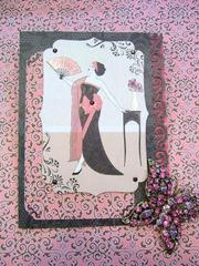 Art Nouveau lady with fan