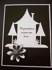 Embossed Black and White Housewarming