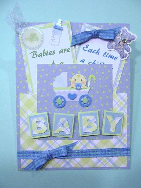 Baby Boy Pocket card with inserts.