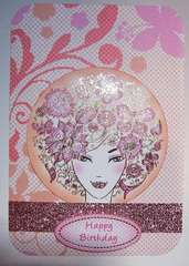 Bella Lady Birthday handmade card