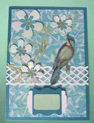 Bird on a Fence handmade card