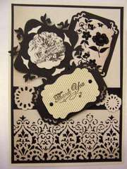 Black and Cream Thank You card