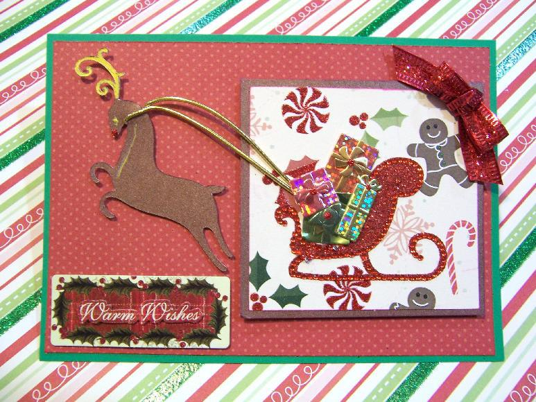 Bling sleigh with presents and reindeer