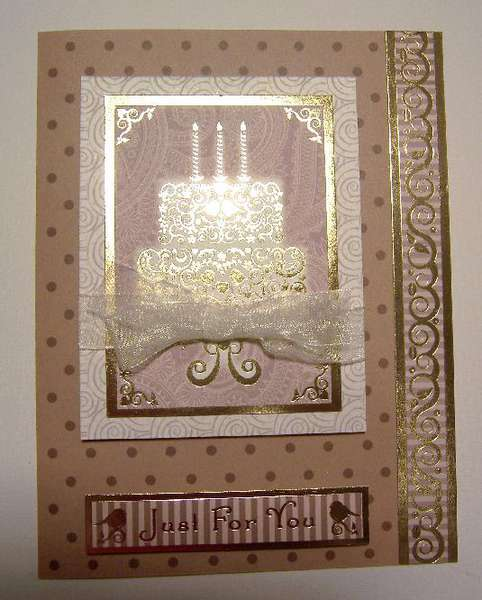 Gold Foil Birthday Cake and Candles