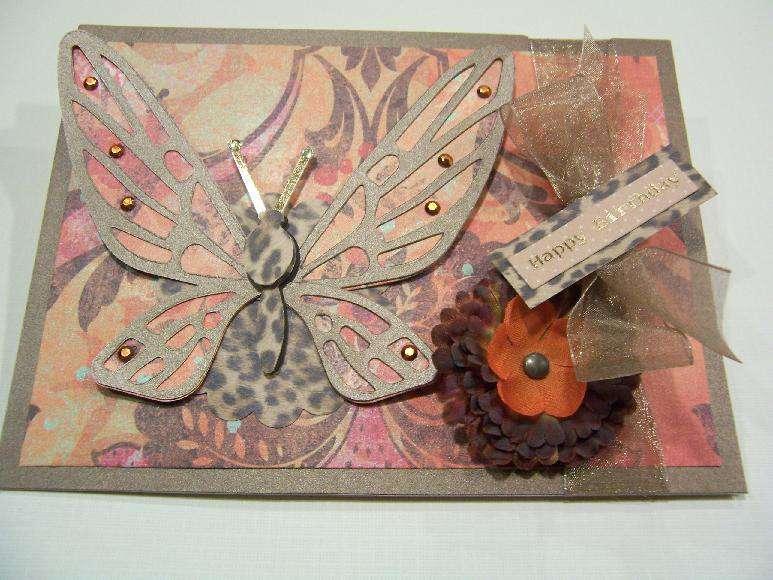Leopard Butterfly Birthday Card
