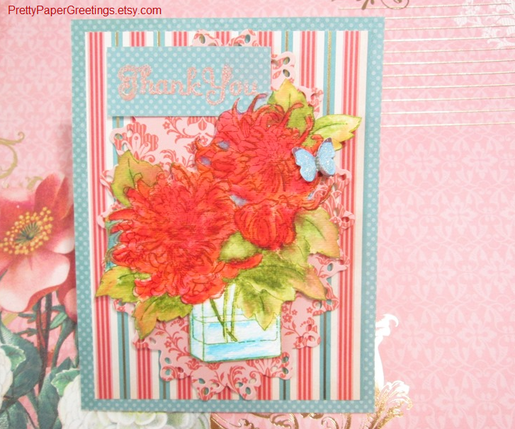 Coral Couture Vase Mums