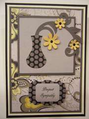 Elegant Sympathy handmade card