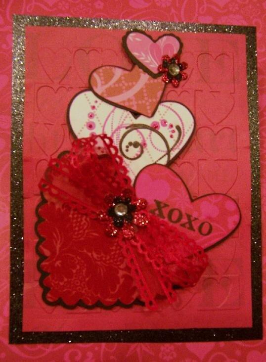 Vertical Hearts XOXO Valentine