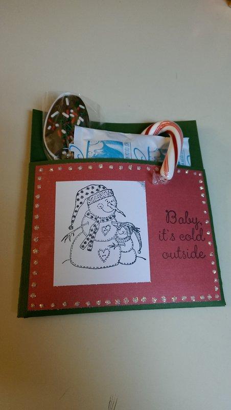 holiday hot chocolate envelope