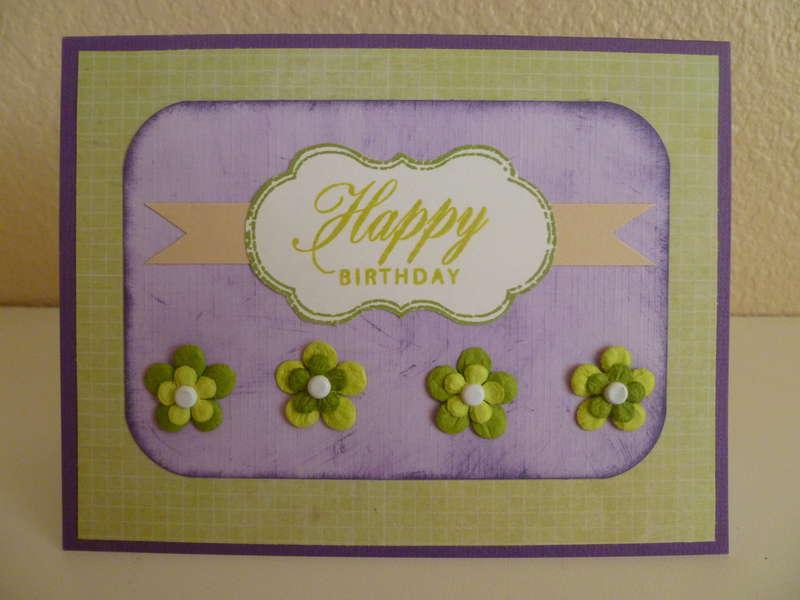 Happy Birthday - Purple/Green