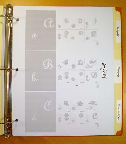 Cricut Cartridge Cheat Sheets - Example 1