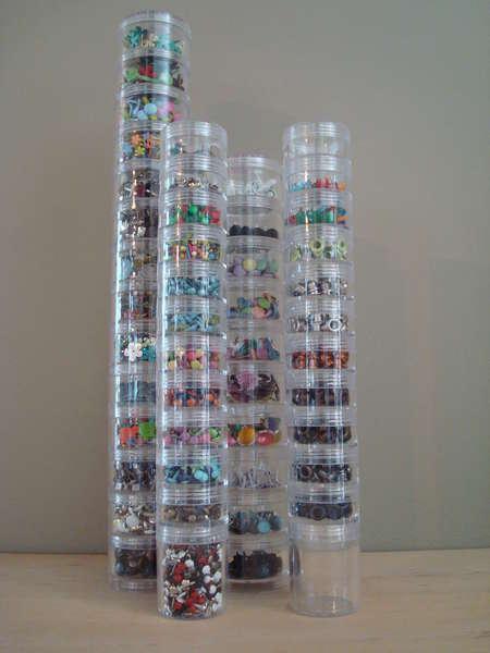 Brad & Eyelet Storage - Craft Mates Stacking Jars
