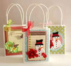 christmas gift paper bags * jillibean soup * petaloo