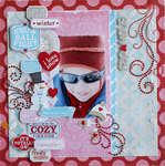 snow day * zva creative pink paislee *