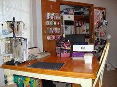 My scraproom table