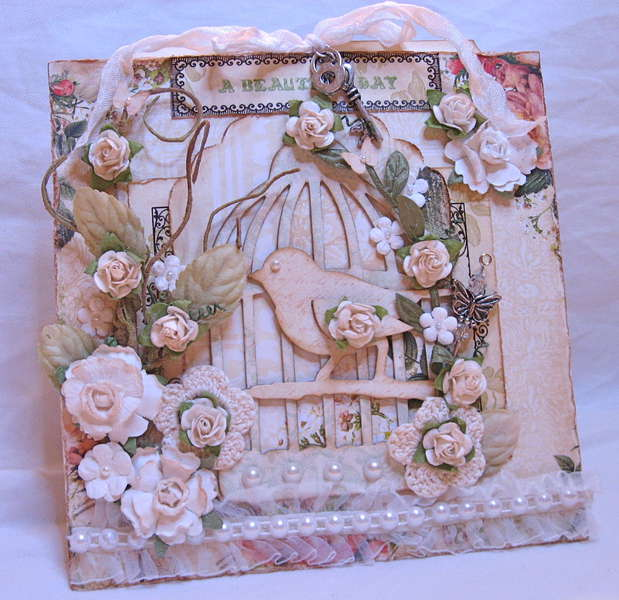 Bird Cage card using Webster's pages