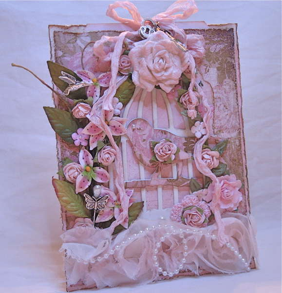 Shabby Chic Bird Cage card