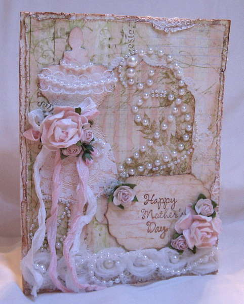 Shabby Vintage Chic Mother's Day Card