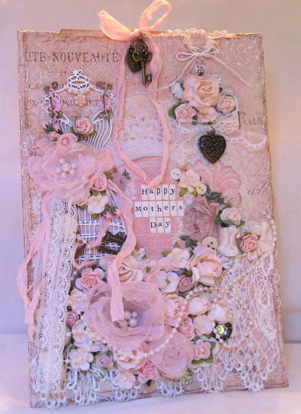 Shabby Chic Pink Mother's Day Card